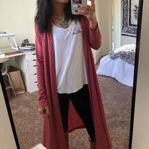 Sweaters - Long open cardigan blush pink
